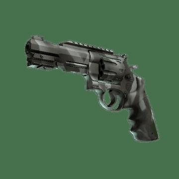 R8 Revolver - Bone Mask