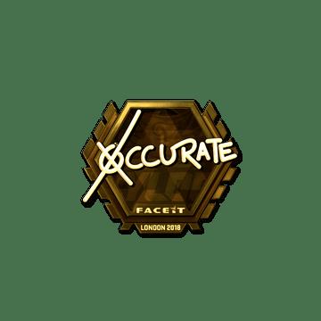 Sticker | xccurate (Gold) | London 2018