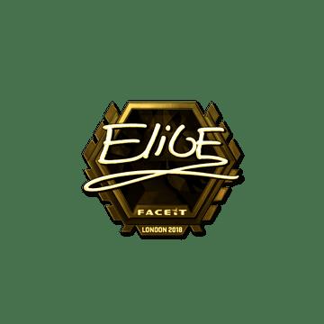 Sticker | EliGE (Gold) | London 2018