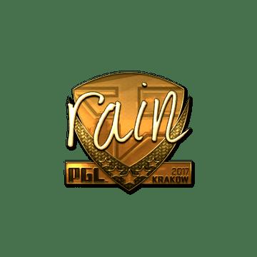 Sticker | rain (Gold) | Krakow 2017
