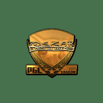 Sticker   oskar (Gold)   Krakow 2017