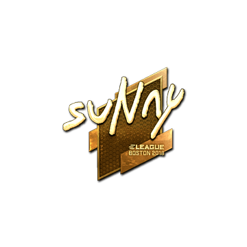 Sticker | suNny (Gold) | Boston 2018
