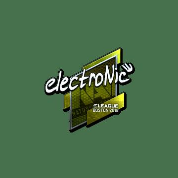 Sticker | electronic (Foil) | Boston 2018