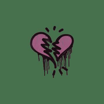 Sealed Graffiti | Broken Heart (Princess Pink)